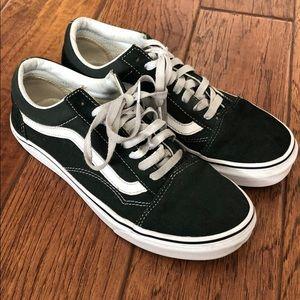 Dark Green Old Skool Vans